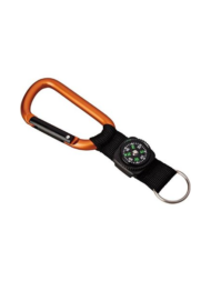 Munkees Carabiner with Strap Compass Keyring