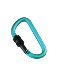 Munkees D-shape Carabiner with screw lock 80 mm