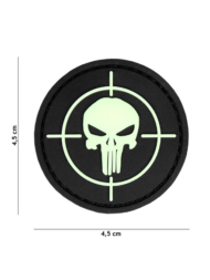 Σήμα καουτσούκ punisher sight glow in the dark